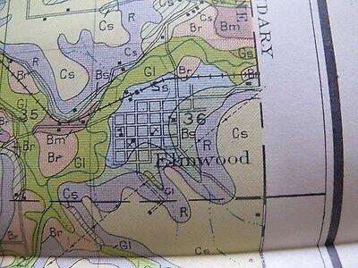 Color Soil Survey Map Pierce County Wisconsin River Falls Prescott Elmwood 1929 4