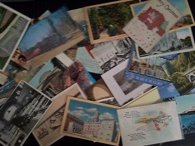 Postcards, Random Vintage Postcard Lot of 10,  Post Cards, 1905-1970's 3