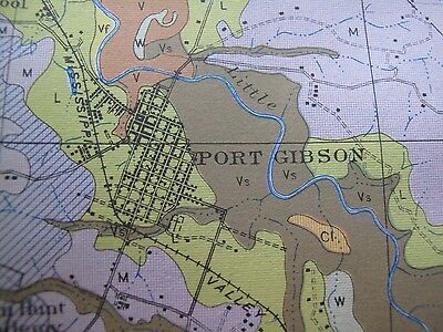 Soil Survey Map Clairborne County Mississippi Port Gibson Pattison Russum 1926 2