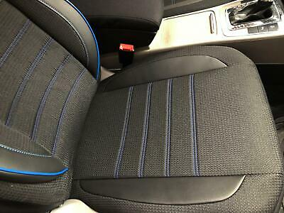 Sitzbezüge Schonbezüge für Nissan Qashqai schwarz-weiss V2224583 Vordersitze