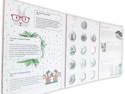 Beatrix Potter 2016-2018 50p coin album folder NEW Peter Rabbit Jeremy Fisher 2