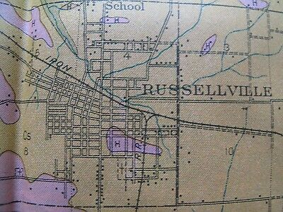 Folded Color Soil Survey Map Pope County Arkansas Russellville Atkins Dover 1913 2