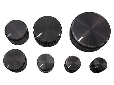 7 Sizes Metal Knurled Pot Knobs for 6mm Potentiometer / Rotary Encoder - 13-40mm