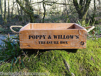 New Dog Cat Wooden Toy Box High Quality FREE PERSONALISATION! & PAW PRINTS! 2