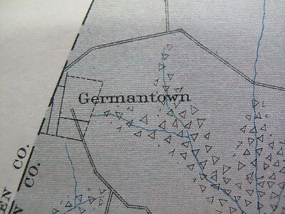 Color Soil Survey Map Mason County Kentucky Maysville Dover Germantown 1903 4