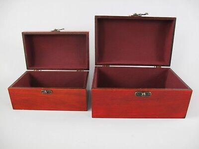 Schmuckschatulle Set v.2 Holz farbe Mahagonie Vintage Designer Geschenk Luxus 7