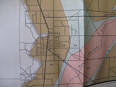 Soil Survey Map San Bernardino California Corona Redlands Riverside Perris 1904 6