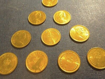 English Coins.10 x 1/2 New Penny 1971.Circulated but very Bright. 2