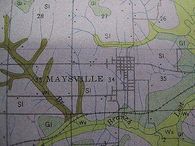 Folded Soil Survey Map DeKalb County Missouri Maysville Osborn Clarksdale 1914 2