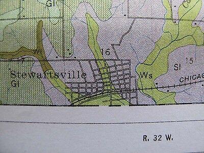 Folded Soil Survey Map DeKalb County Missouri Maysville Osborn Clarksdale 1914 3