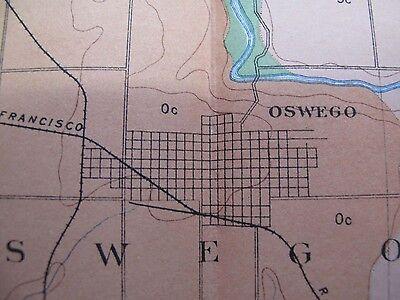 Folded Color Soil Survey Map Parsons Kansas Oswego Chetopa Bartlett McCune 1903 2
