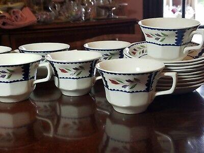 Adams Ironstone Lancaster Serving pieces, plates, cups, saucers, vegetable, bowl 7