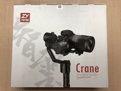 Used Zhiyun Crane V2 3-Axis Handheld Stabilizer Gimbal for DSLR Cameras, Sony 6