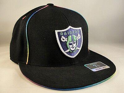 ... NFL Oakland Raiders Reebok Kaleidoscope Fitted Hat Cap Size 7 1 4 3 2b3579856
