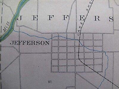 Color Soil Survey Map Ashtabula Co Ohio Conneaut Jefferson Geneva Lake Erie 1903 4