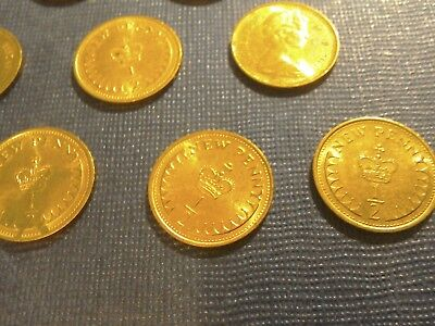 English Coins.10 x 1/2 New Penny 1971.Circulated but very Bright. 3