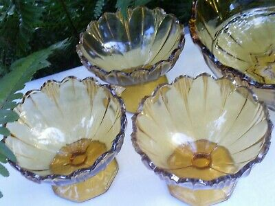 RARE Antique 1920's SOWERBY England HUMPHREY AMBER BOWLS SET VG Collectable Aust 8