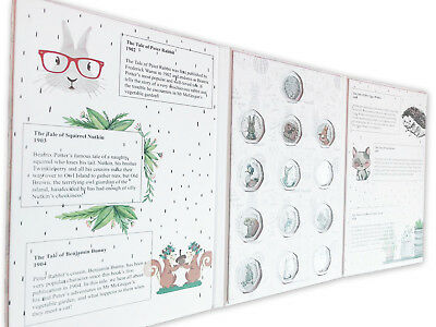 All 2016-2018 Beatrix Potter 50p Fifty pence Coin Album folder collecting pack