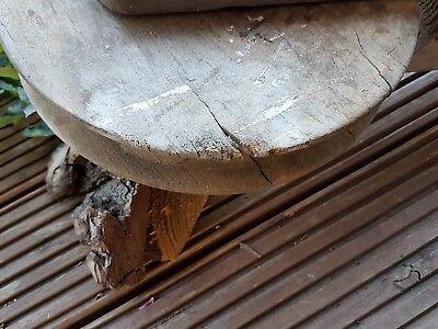 Alter Flaschenzug Holzrolle Umlenkrolle  Landhaus Vintage Industrie Werkzeug 298 6