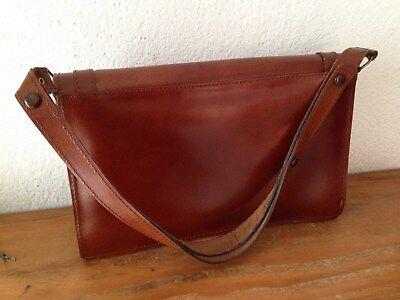 823e70e8d8 TRÈS BEAU sac à main besace en cuir marron vintage authentique - EUR ...