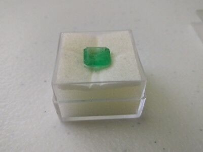 Natural Green Emerald Loose Gemstone Octagon Cut Stone 2.5 ct 2