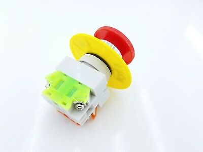 Emergency Stop E-Stop Mushroom Switch Button CNC Mill Router Lathe Machinery