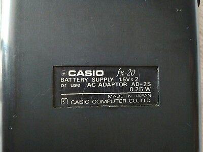CASIO FX-20 calculadora científica VINTAGE year 1975 5