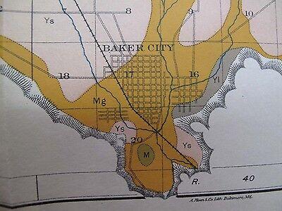 4 Soil Survey Alkali Maps Baker City Oregon Haines Wingville North Powder 1903 2
