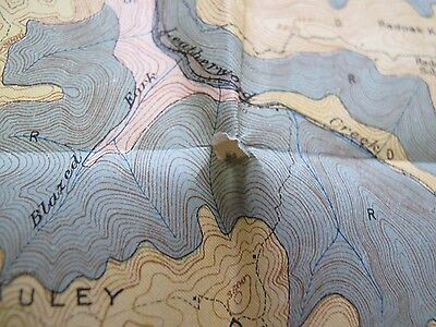 Folded Color Soil Survey Map Webster County West Virginia Springs Cowen Diana 4