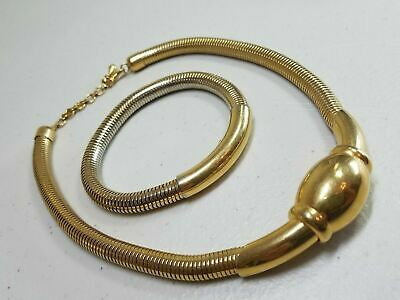 Vintage Signed Monet Large Articulated Gold Tone Runway Egyptian Collar Necklace Sensational Estate Find 1970/'s Jewelry 2208
