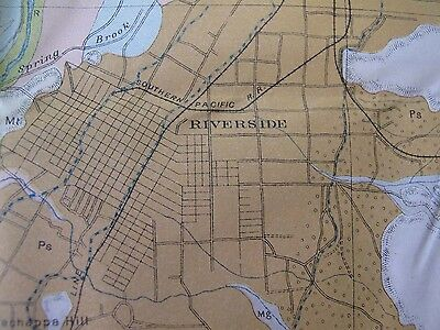 Soil Survey Map San Bernardino California Corona Redlands Riverside Perris 1904 5