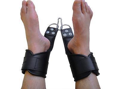 Leder Hand Fuß Hängefesseln Hängefessel Handfesseln Fußfesseln speziale 2