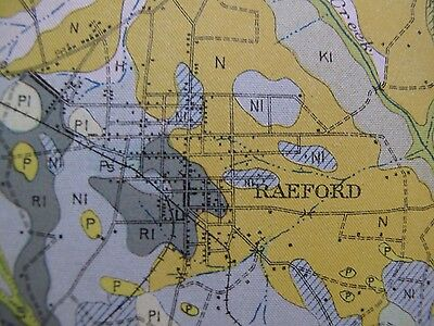 Folded Soil Survey Map Hoke County North Carolina Raeford Dundarrach Rockfish 2