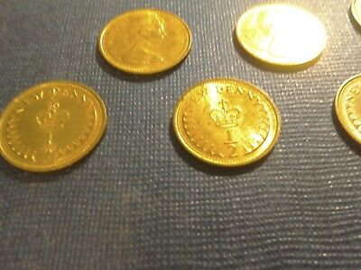 English Coins 10 x 1/2 New Pennies dated 1971.Circulated but very bright. 2