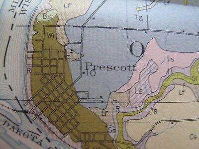 Color Soil Survey Map Pierce County Wisconsin River Falls Prescott Elmwood 1929 3