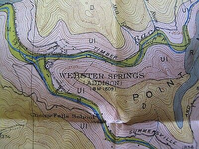 Folded Color Soil Survey Map Webster County West Virginia Springs Cowen Diana 3