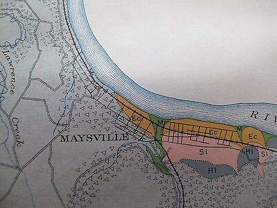 Color Soil Survey Map Mason County Kentucky Maysville Dover Germantown 1903 2