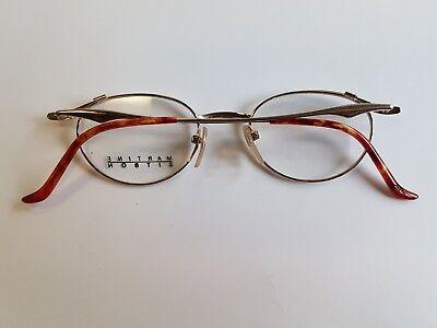 MARTINE SITBON Classic Brille Eyeglasses Occhiali Lunettes Gafas 6523 Gold Panto FvrIA