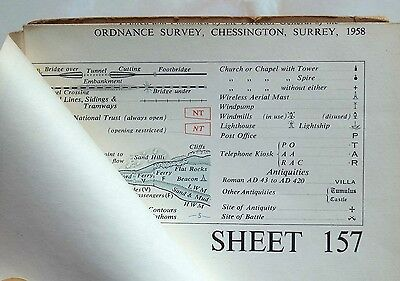 Ordnance Survey Map Swindon Sheet 157. Fully Revised 1949-56; Published 1958. 3