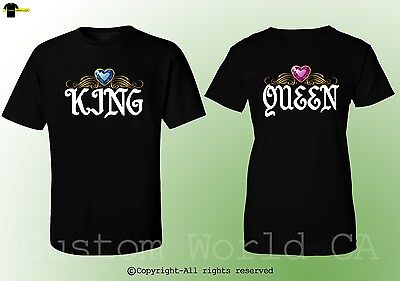 e9e4e0d0 ... King & Queen Design Fashion Couple Shirts BF GF His and Hers Match Tee  Clothes 10