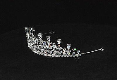 Luxus Strass Diadem,Tiara-Hochzeit, Strass, Braut Haarschmuck, 100% Handarbeit