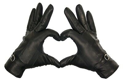 Ladies Leather Gloves Women Real Soft Fleece Lined Winter Casual Driving Warm 8