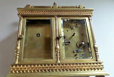 Antique French Double Carriage Clock Barometer / Alarm  / Compass Set 10