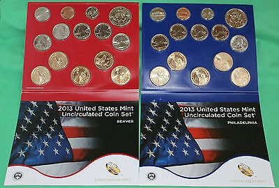 2013 ANNUAL US Mint Uncirculated Coin Set 28 P and D Minted Coins with COA 8
