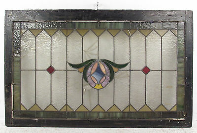 Antique Vintage Stained Glass Hanging Window (1353)NJ 2