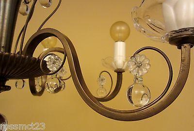 Vintage Lighting circa 1950 Mid Century quality chandelier 6