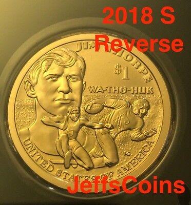 2018 S Reverse Native American Sacagawea New Gold Dollar $1 US Mint Set Via 18XC 2