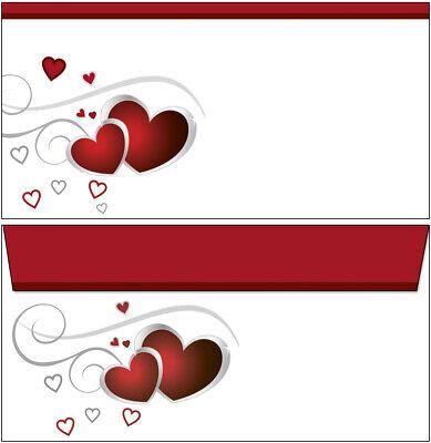 Schreibblock rote Herzen A5 50 Bl Briefpapier Motivpapier Notizblock Love Liebe