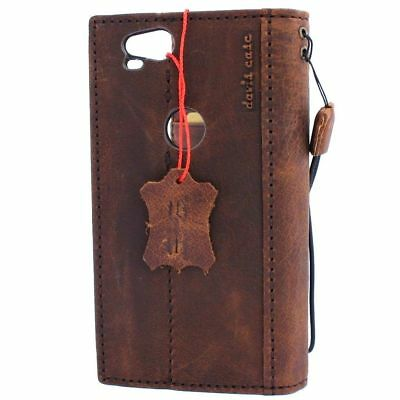 genuine real vintage leather case for Google Pixel 2 book wallet cover holder ID 5