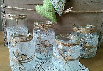 20 windlichter vasen hochzeit vintage shabby spitze deko hochzeitsdeko eur 59 00 picclick de. Black Bedroom Furniture Sets. Home Design Ideas